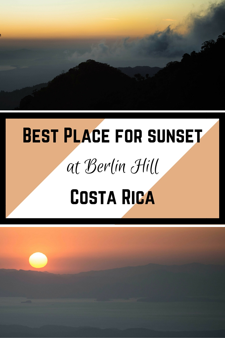 Sunset at Berlin Hill Costa Rica